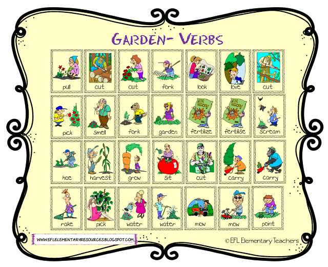 clipart freeuse stock Chore clipart adverb frequency. Esl garden theme action.