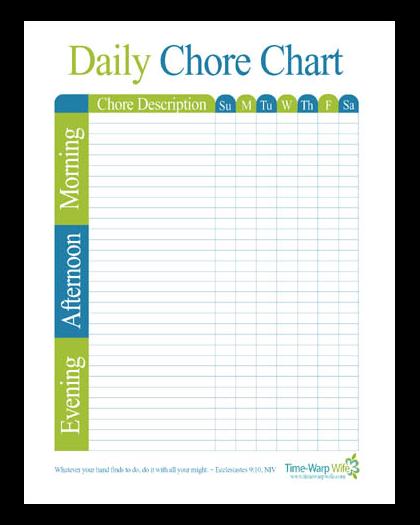 clipart free stock homeschool chore chart template