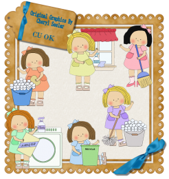 clipart royalty free download Chores clipart. Housework scrapping goodies clip.
