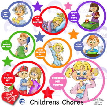 svg free stock Chores for kids clipart. Children amb