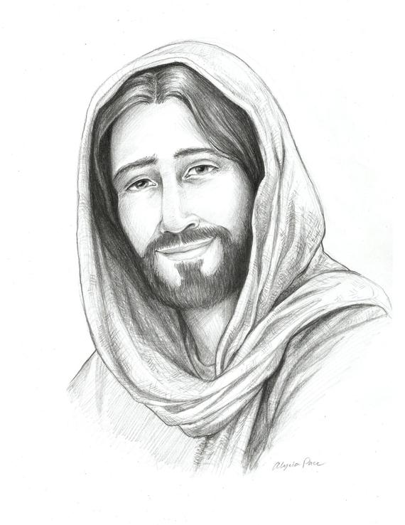 clipart free download Drawing jesus. Of christ sketch religious