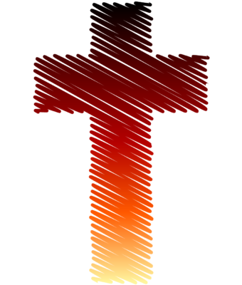 freeuse stock Christian clipart colorful. Image colored in cross.