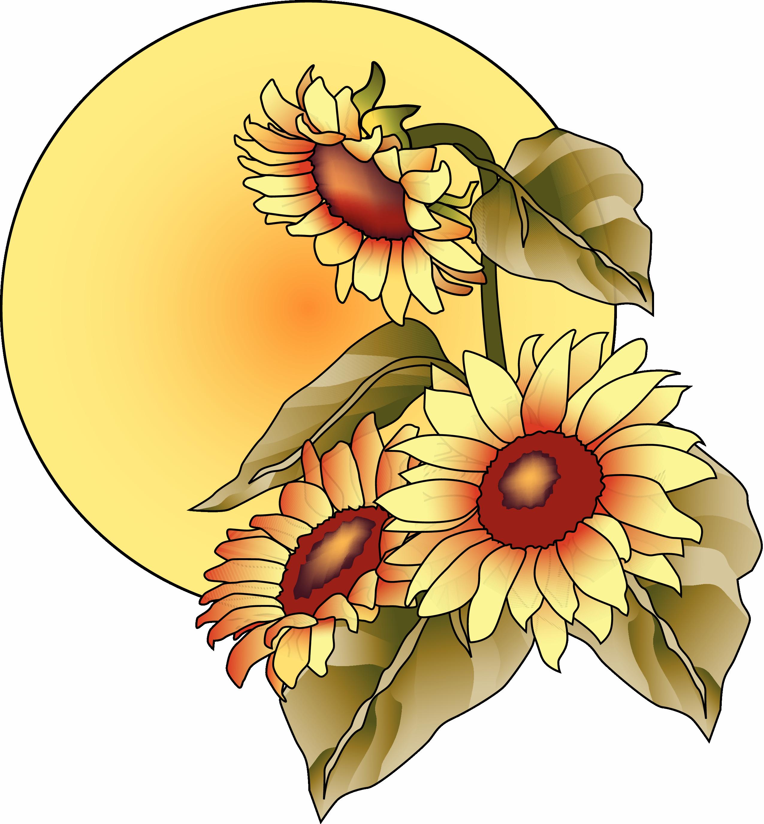 clip stock Sunflowers clipart thanksgiving. Christian november clipartxtras clip