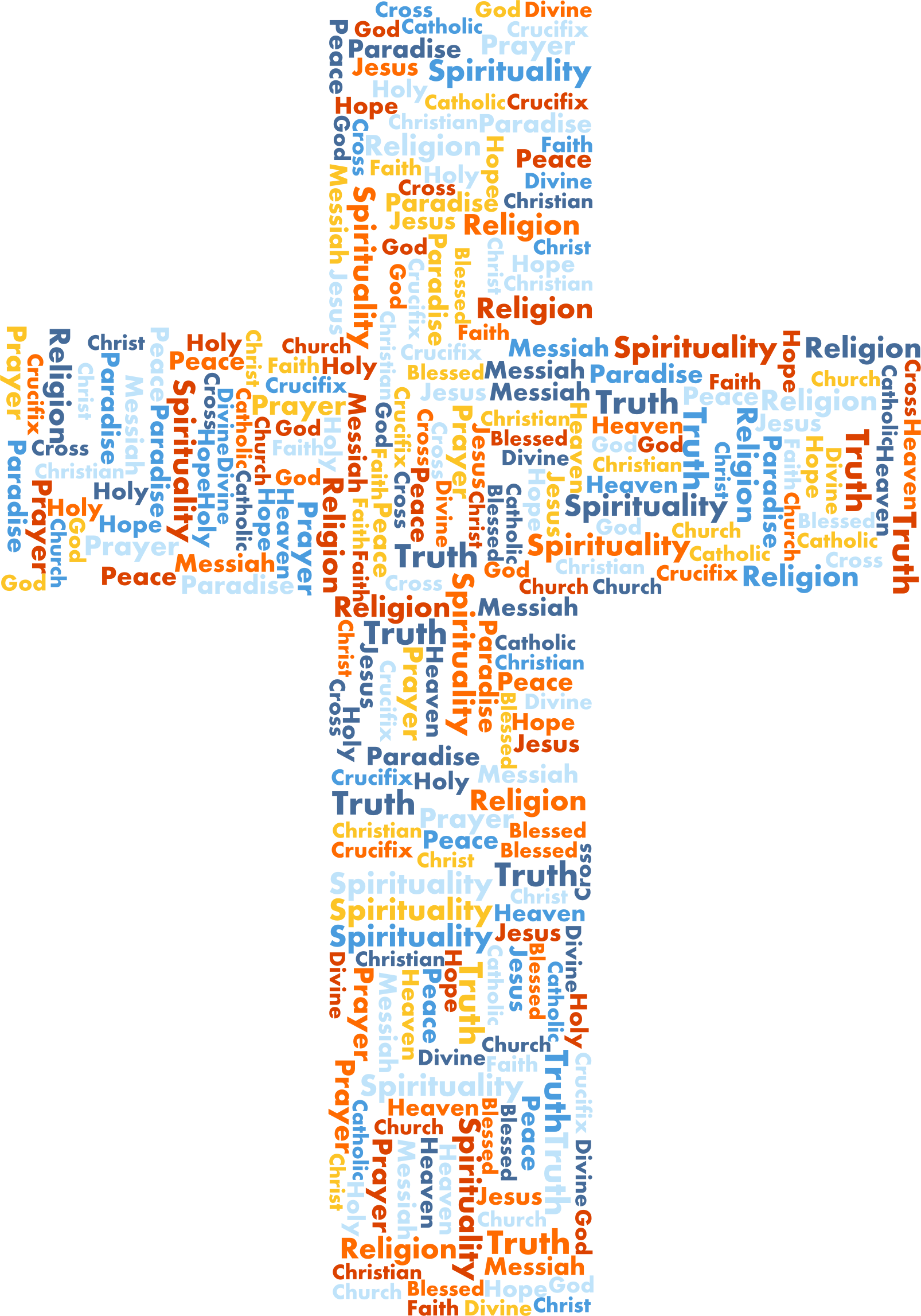 jpg freeuse download Jesus cross word cloud. Christian clipart messiah.