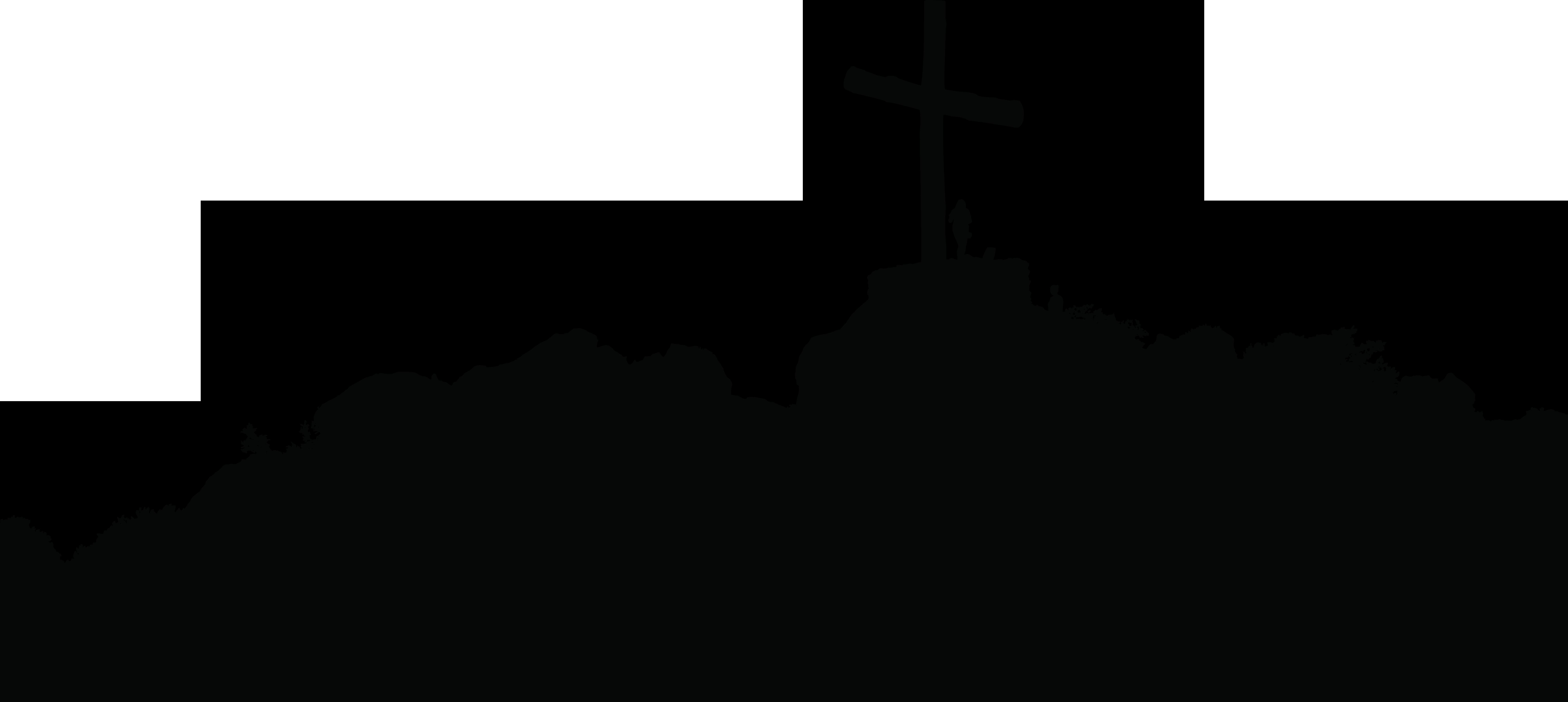 svg Silhouette clip art hill. Christian cross clipart black and white