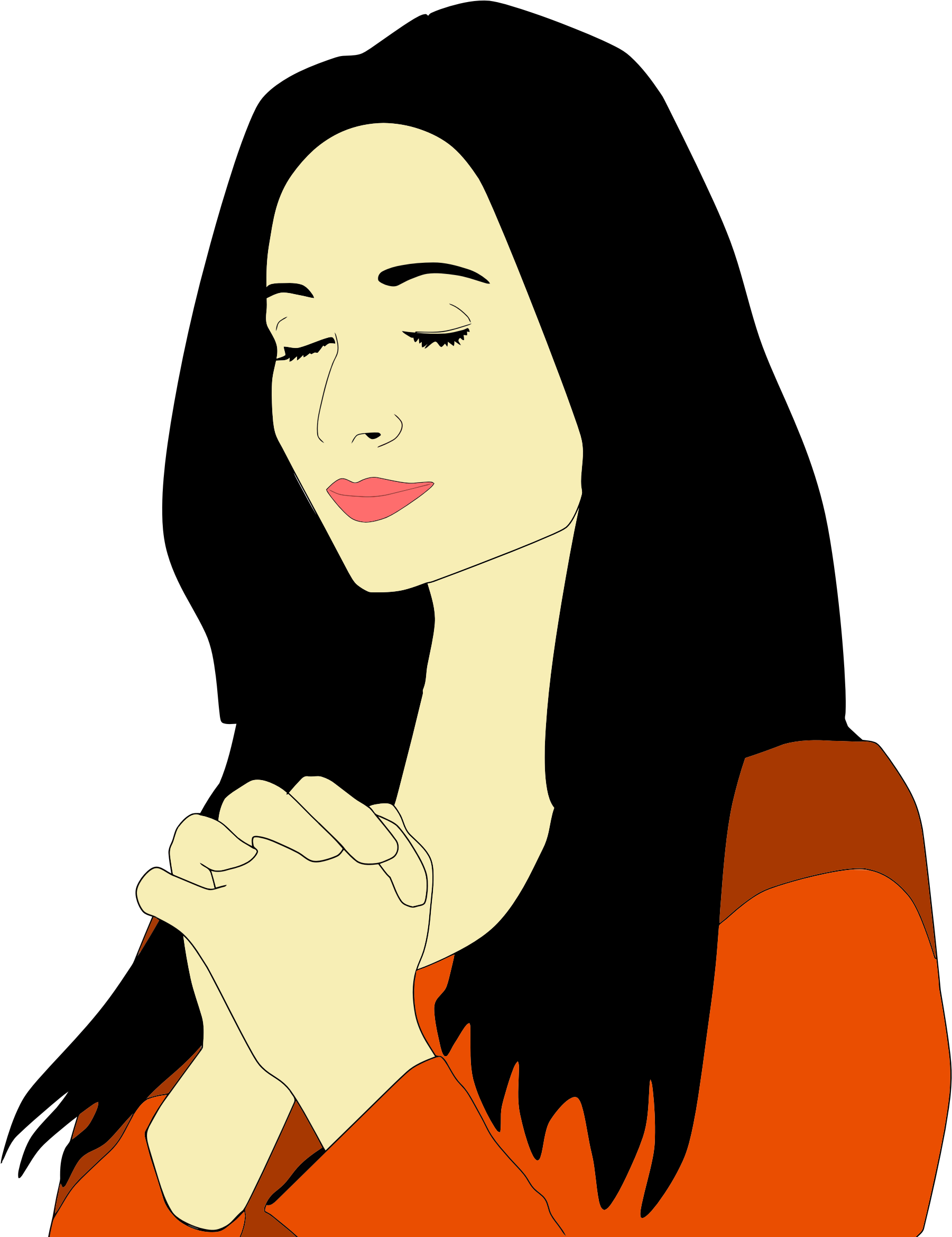 clip library library Silhouette Woman Praying at GetDrawings