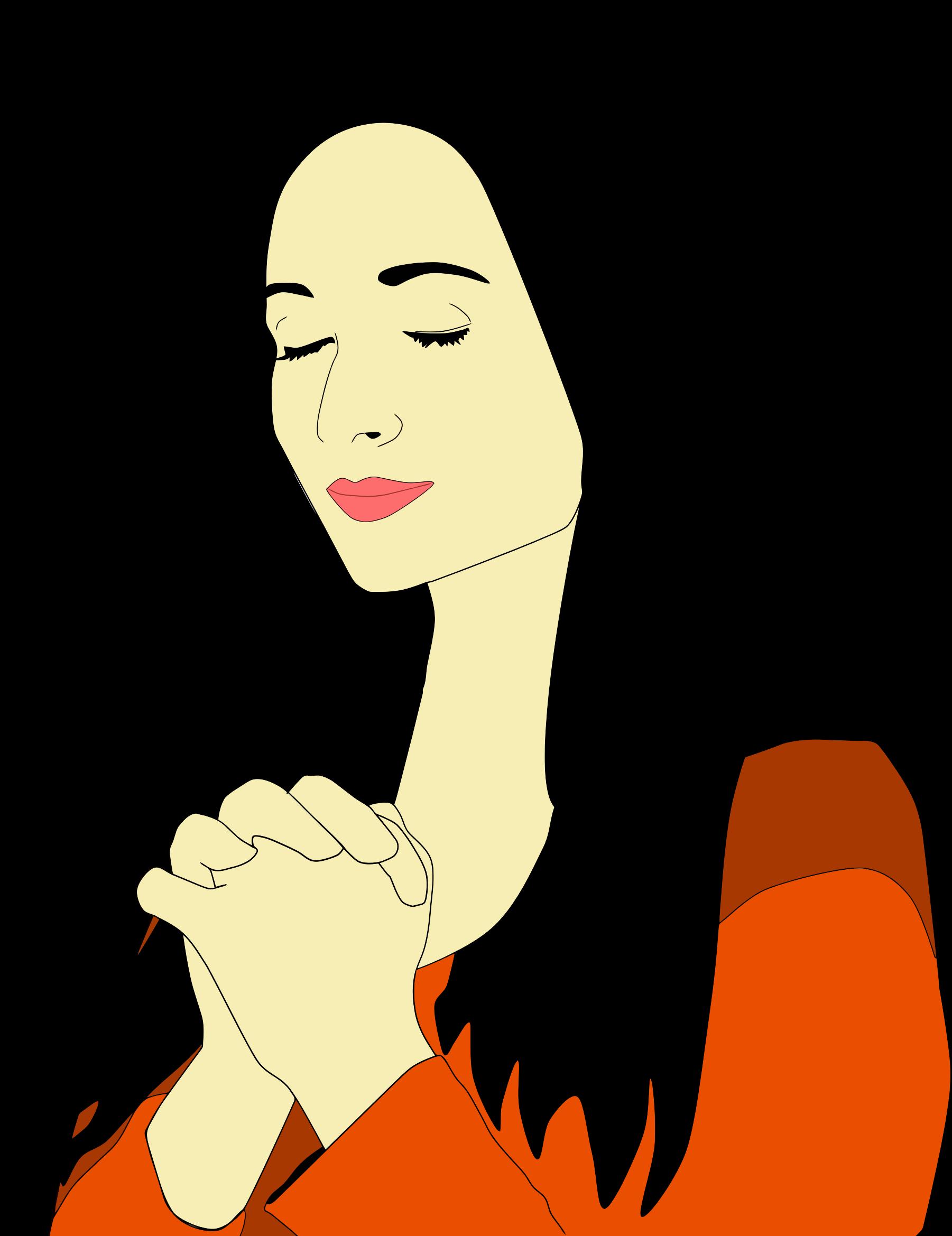 download Silhouette Woman Praying at GetDrawings