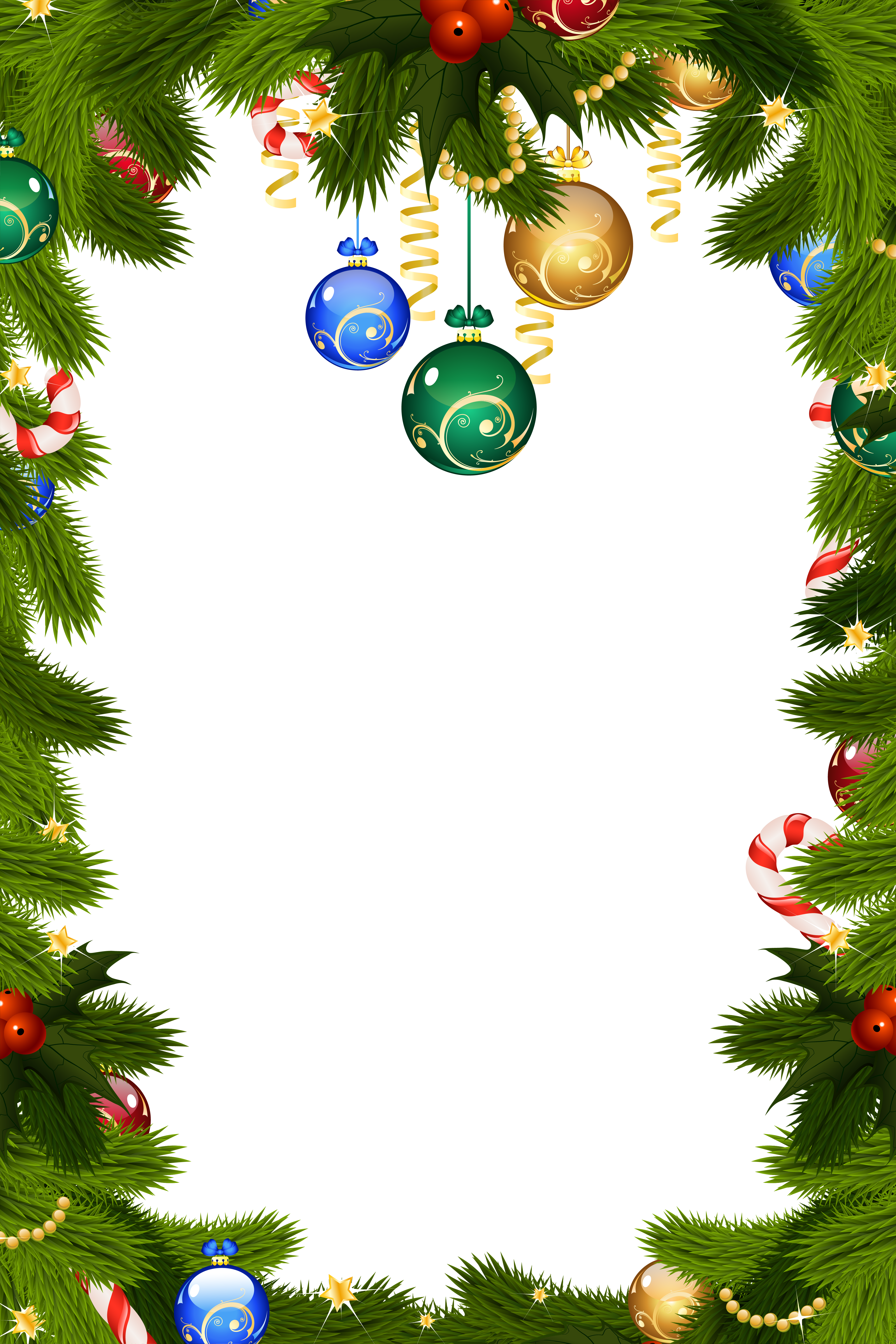 vector royalty free library Transparent christmas png frame. Free holiday clipart borders