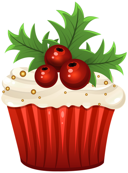svg library stock Christmas Muffin PNG Clip Art Image