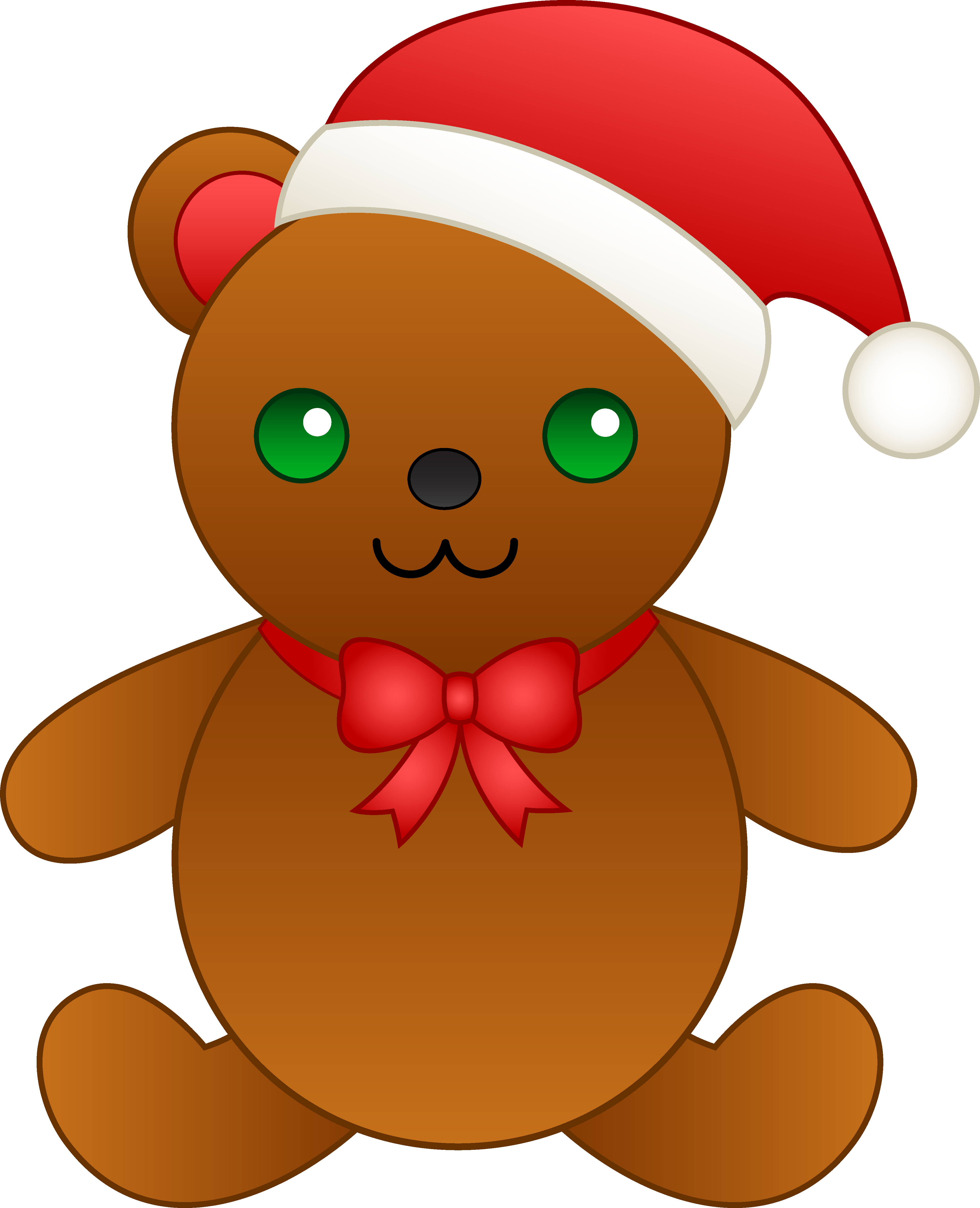image freeuse library Christmas bear clipart. Teddy with santa hat
