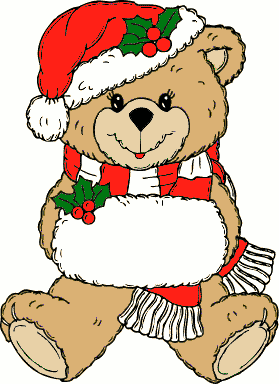 image library library Free background animal . Christmas bear clipart