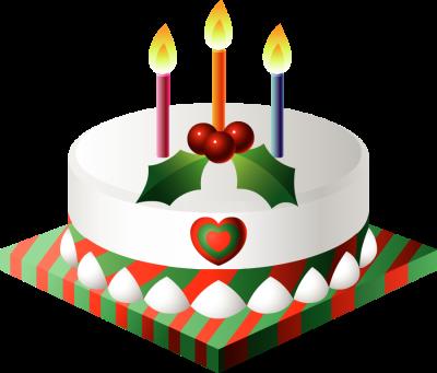 graphic freeuse Christmas Birthday Cake Clipart