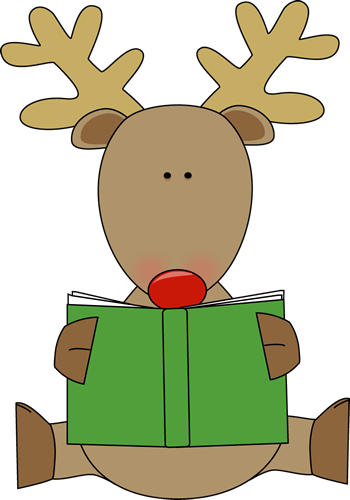 free library Christmas Book Clipart