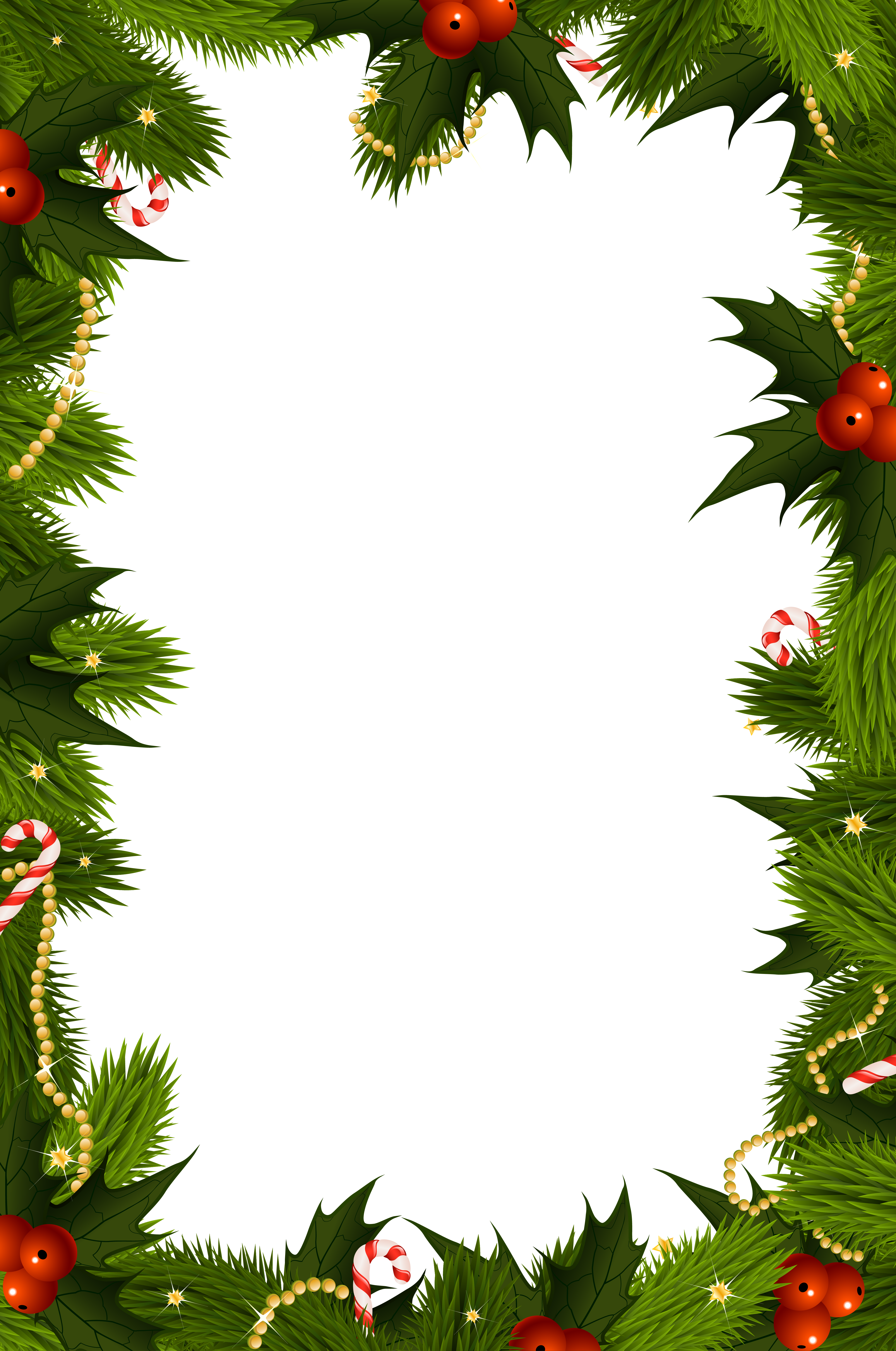 vector royalty free library Christmas clipart borders free. Transparent png border frame
