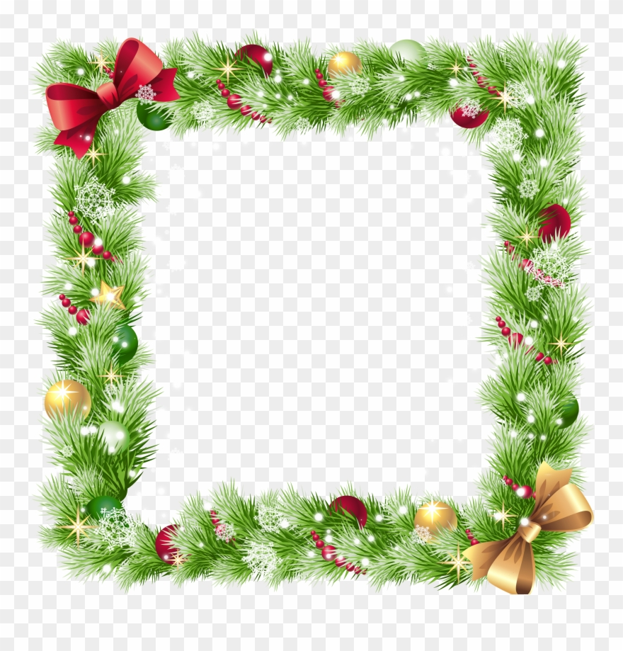 picture transparent library Border transparent background . Christmas borders clipart.