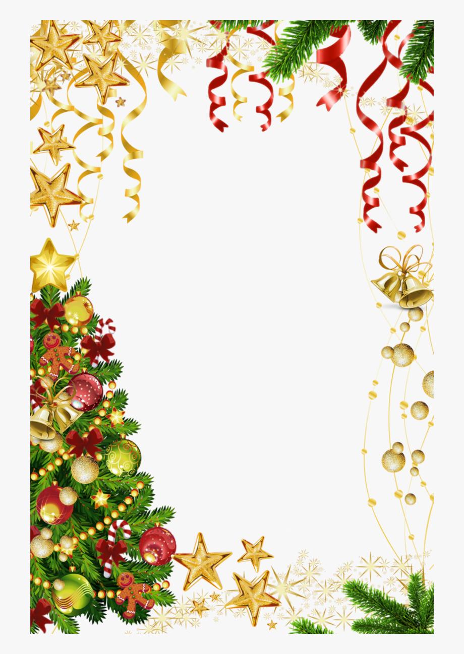 jpg royalty free Border transparent background . Christmas borders clipart.