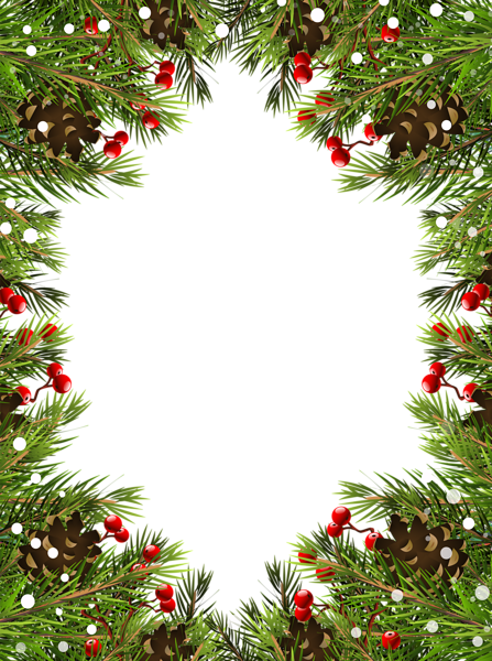 jpg black and white library Border frame transparent png. Christmas borders clipart.