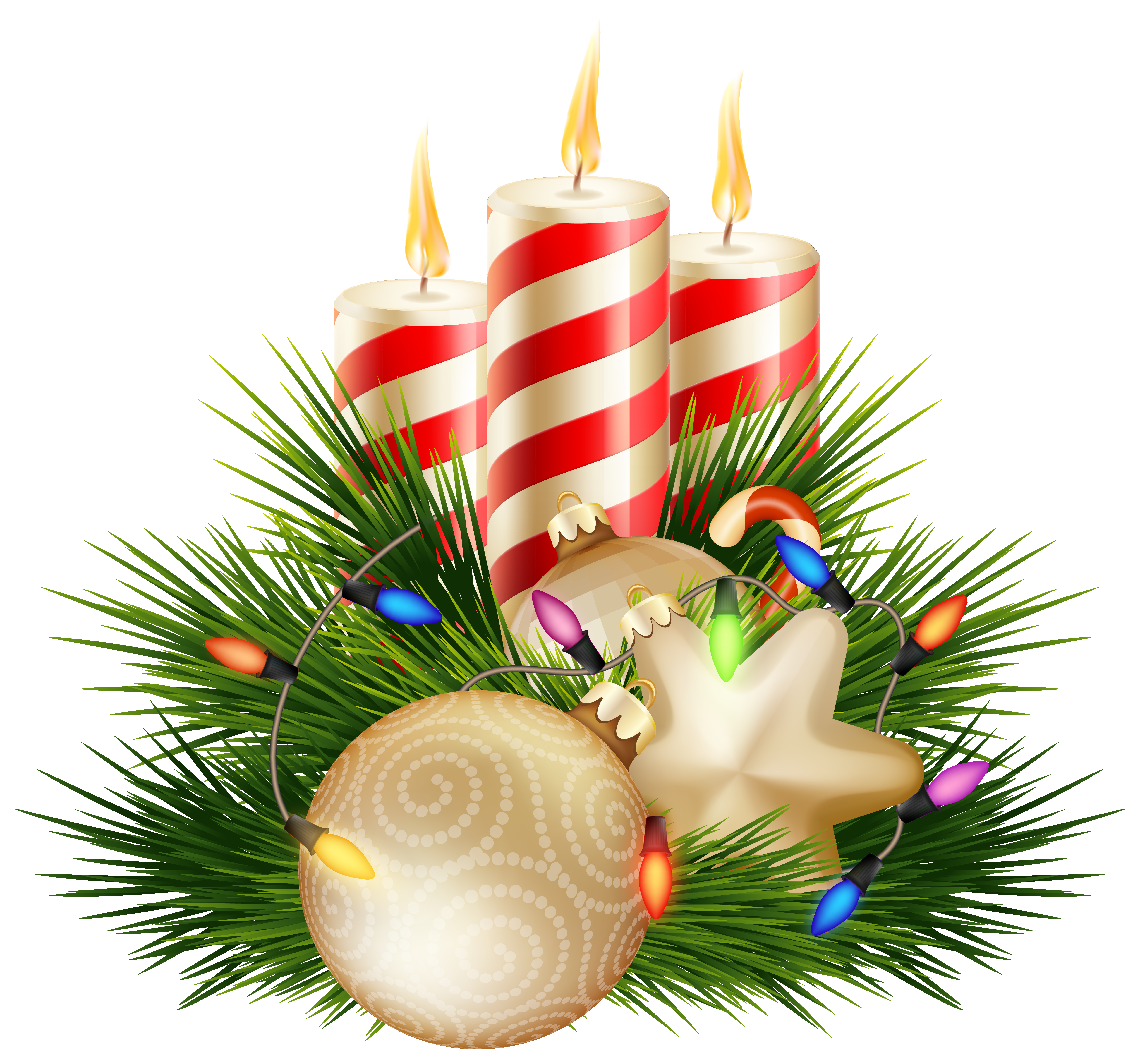 vector royalty free Christmas png clipart image. Transparent candle decorative