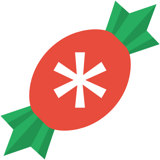 graphic transparent library Simple Christmas Candy Icon