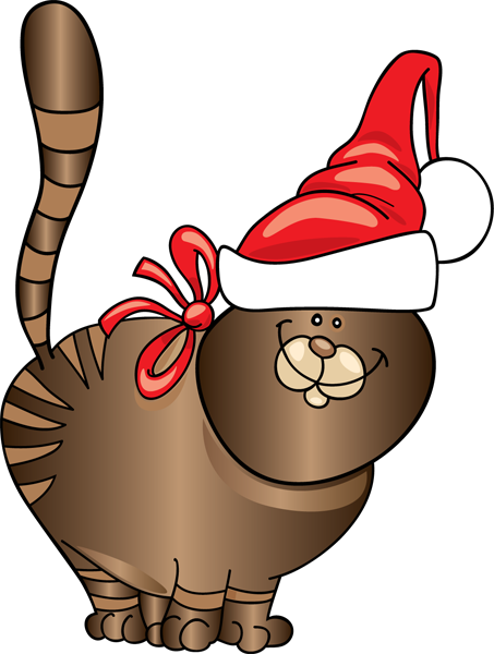 vector freeuse christmas kitten clipart #61105319
