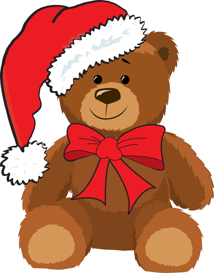 clip royalty free download Christmas Teddy Bears Clipart