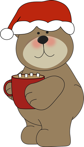 graphic free Drinking cocoa clip art. Christmas clipart bear.
