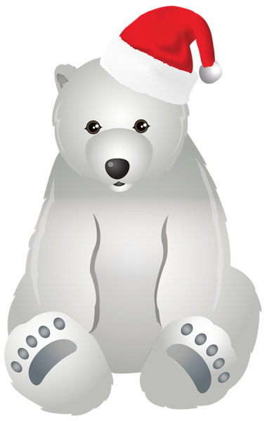clip library Polar transparent clip art. Christmas clipart bear.