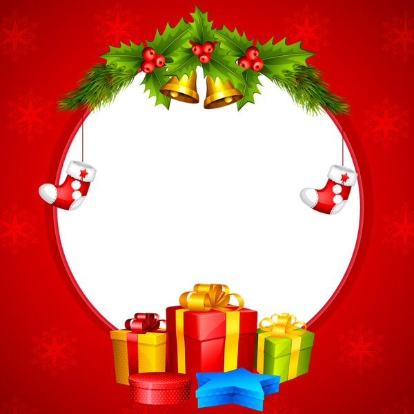 banner free download Transparent red png border. Christmas clipart borders.