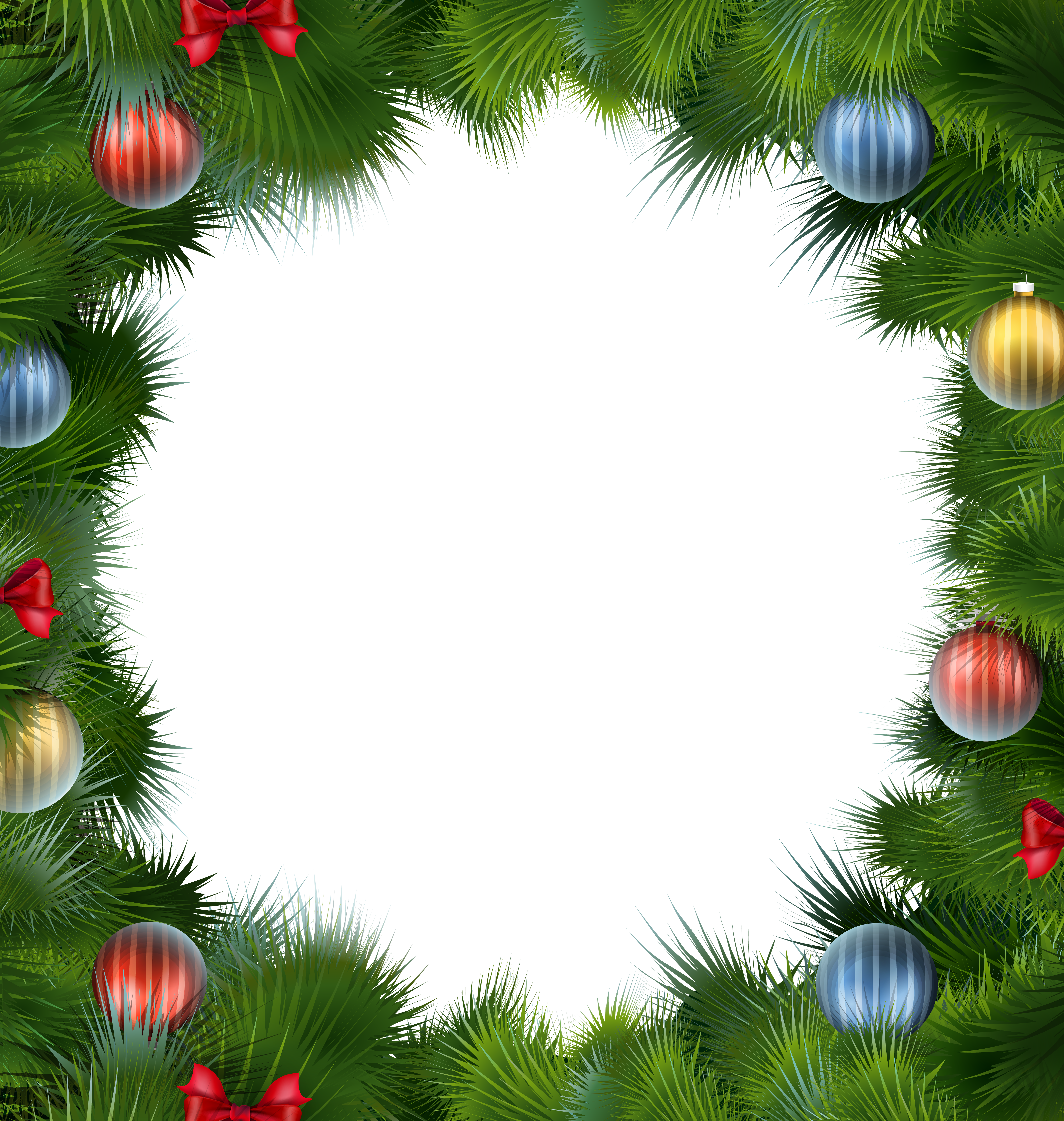 clipart free Christmas Deco Frame with Christmas Balls PNG Clipart