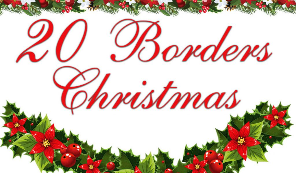 black and white download Transparent . Christmas clipart free borders