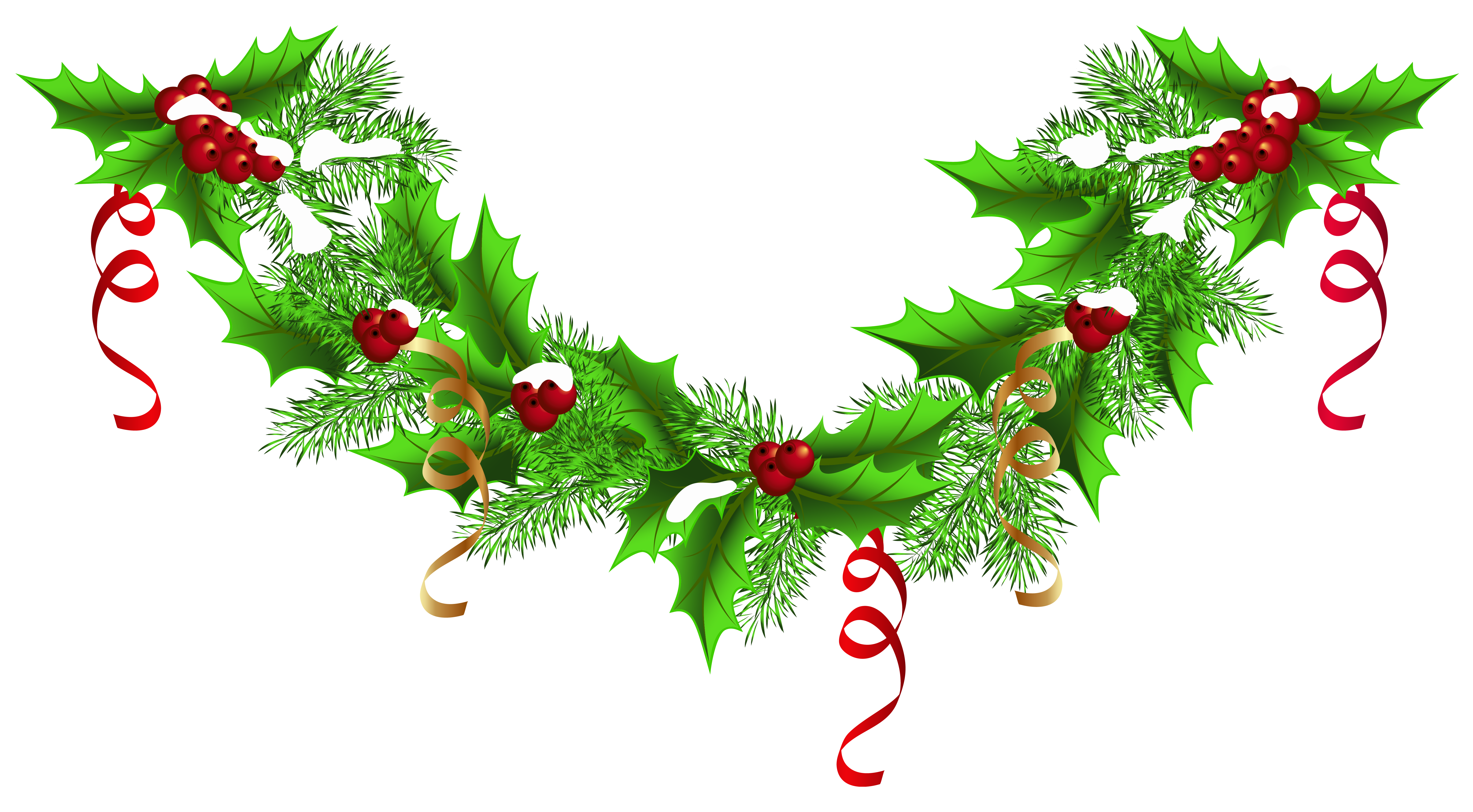 clip library download Christmas Pine Garland PNG Clip