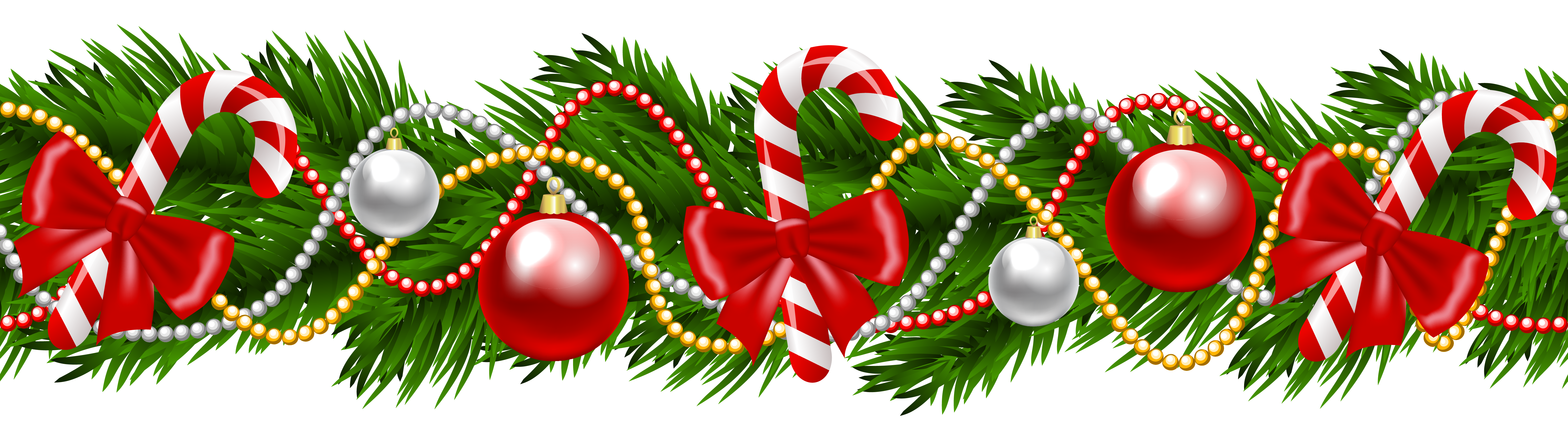clipart free Christmas Pine Deco Garland PNG Clipart Image