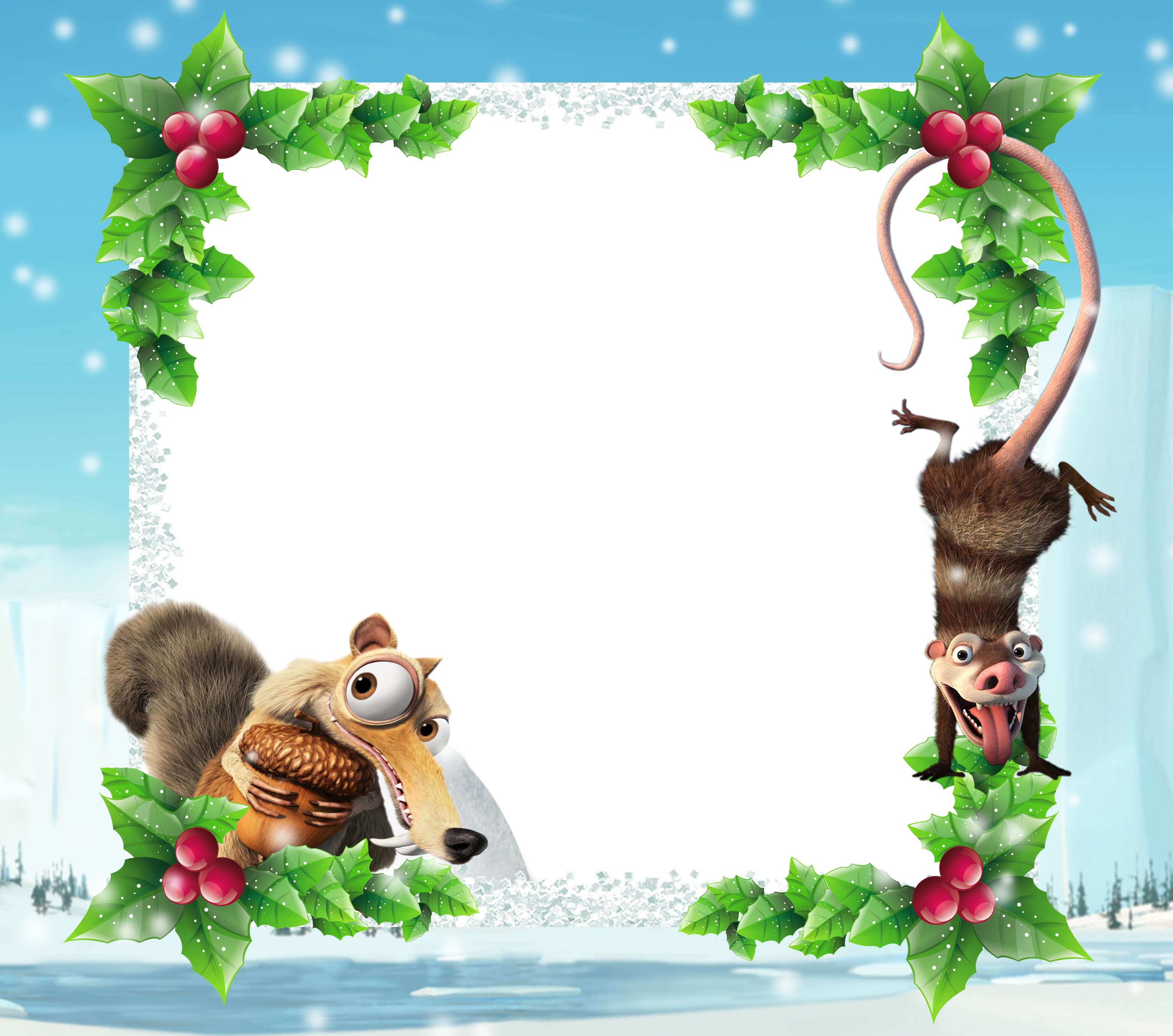 graphic free stock Ice age kids png. Christmas clipart page borders