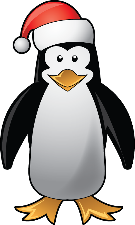 svg stock Christmas Penguin Free Clipart