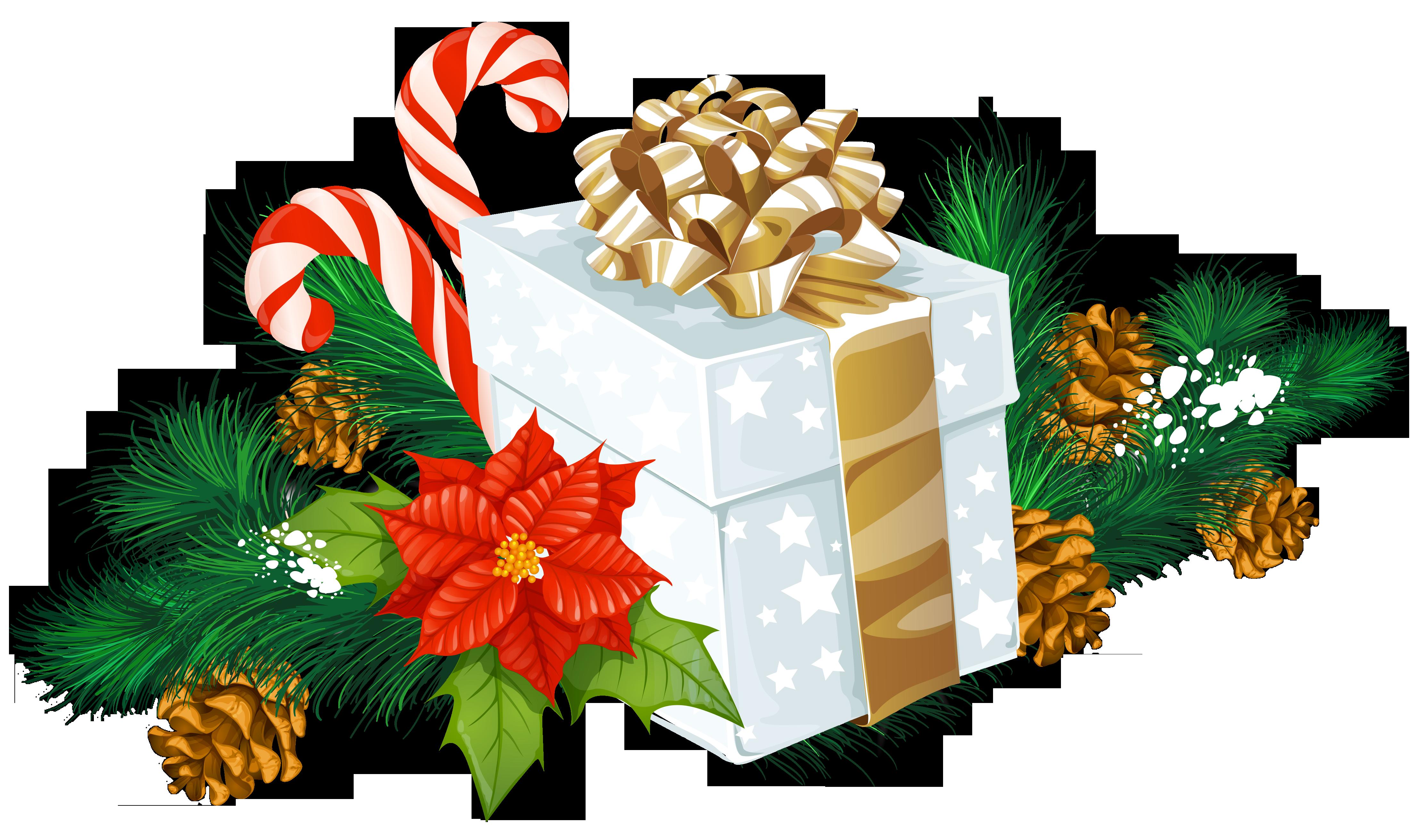 clip transparent stock Transparent Christmas White Gift Decor PNG Clipart