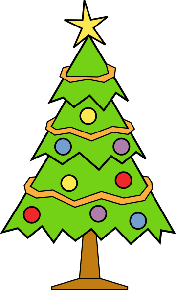 jpg black and white library Christmas Tree Clip Art Png