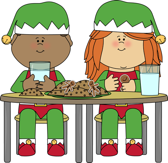 svg Christmas Cookies Eating Clipart