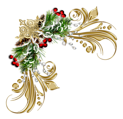banner stock Christmas corner border clipart.  pinterest and clip