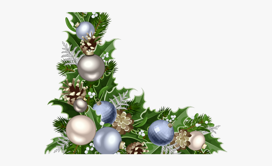 clipart transparent download Ornament border free . Christmas corner borders clipart