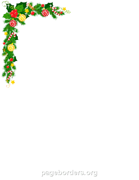graphic royalty free Christmas corner borders clipart. Border free