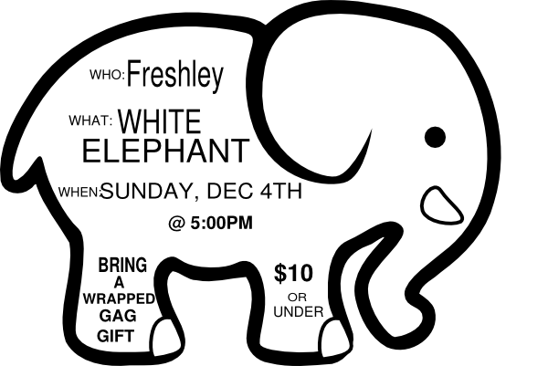 clip art royalty free library White Elephant Game Invite Sample Clip Art at Clker
