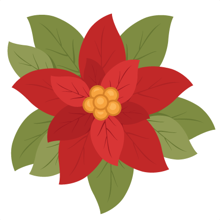 clip royalty free download Poinsettia svg flower. Clipart at getdrawings com.