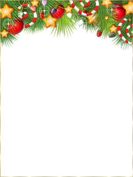 png black and white stock Cute Transparent Christmas Photo Frame