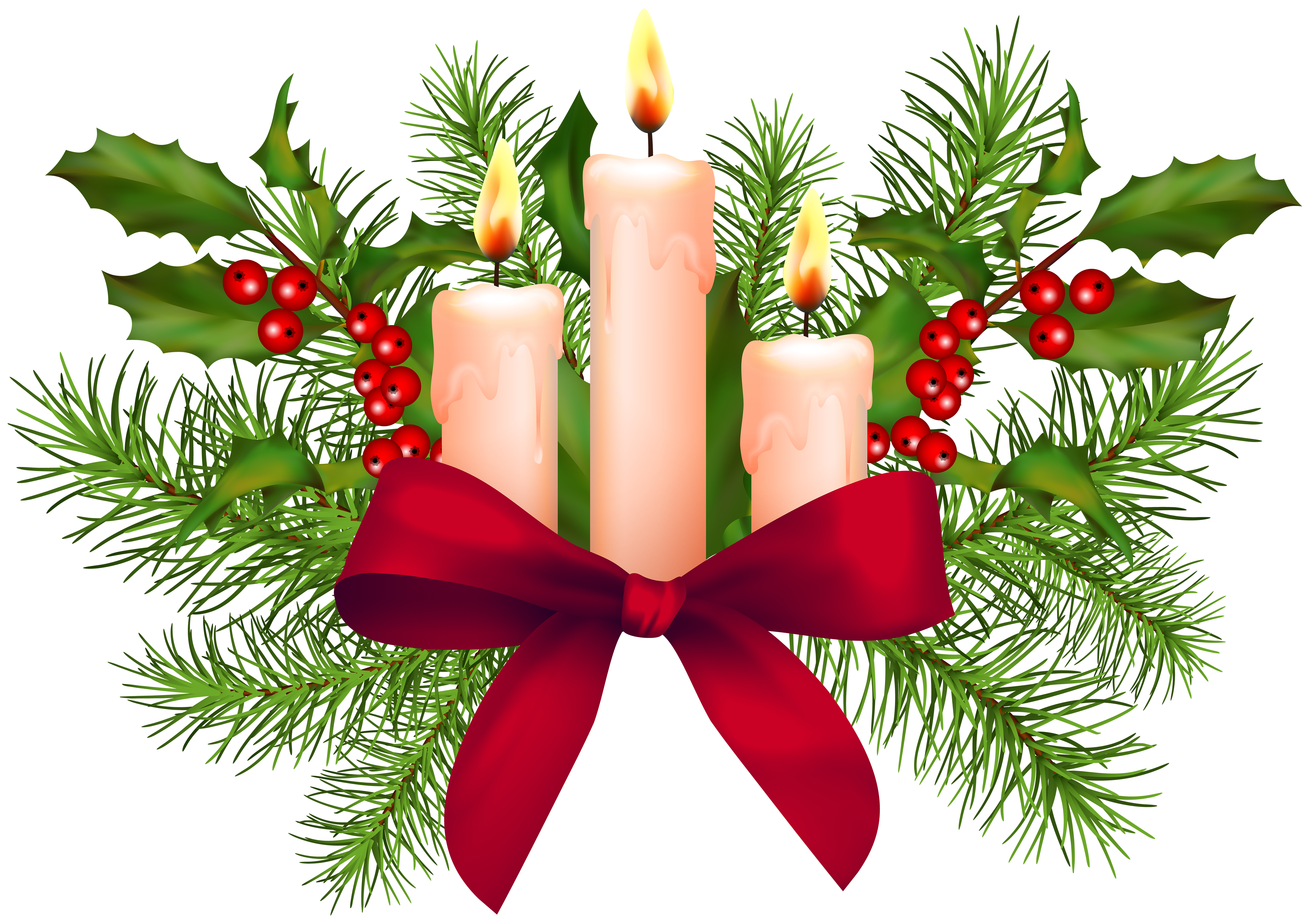 picture royalty free library Christmas Candles Transparent PNG Clip Art