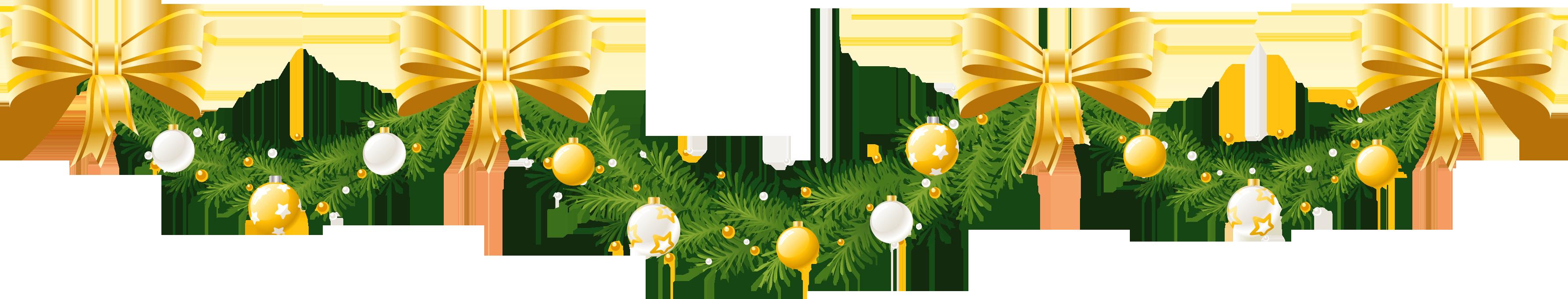 transparent stock Clipart Christmas Garland