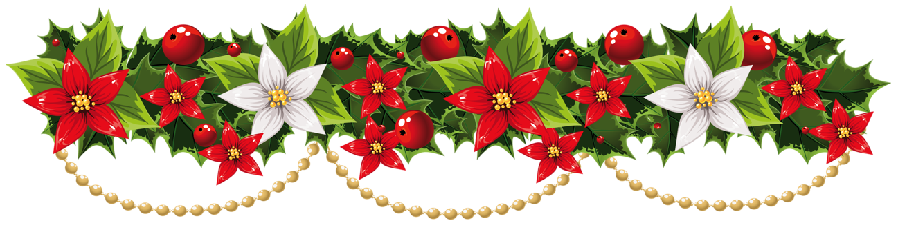 graphic freeuse download Poinsettia Garland Clipart pin amy on christmas garland pinterest