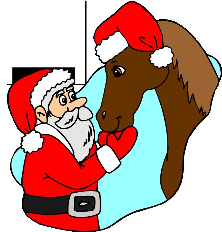 jpg library Christmas Horse Clipart