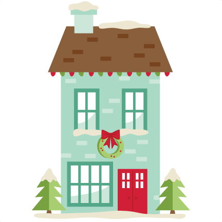 image freeuse library Christmas House SVG scrapbook cut file cute clipart files for