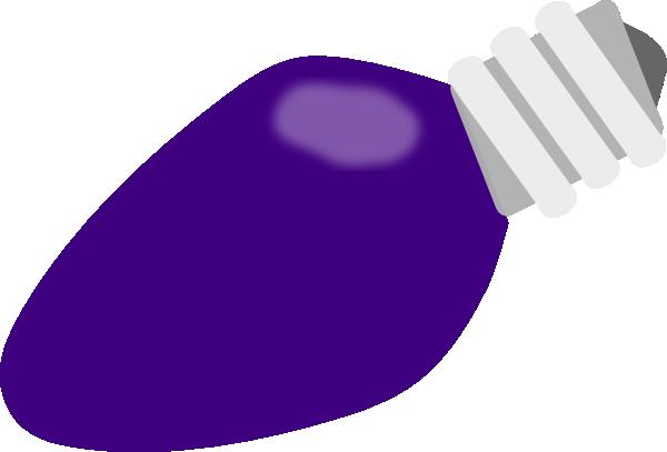 jpg freeuse library Purple Christmas Lightbulb Clip Art at Clker