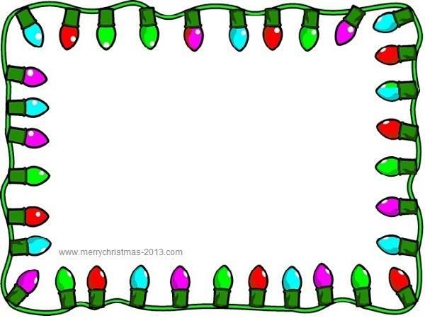 svg black and white library Christmas clipart borders free. Lights border panda